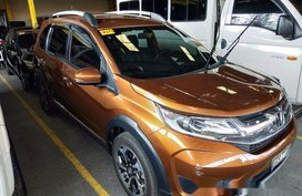 Orange Honda BR-V 2018 for sale in Quezon City
