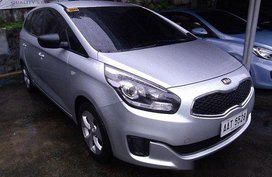 Silver Kia Carens 2014 Manual Gasoline for sale