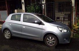Silver Mitsubishi Mirage 2015 Manual Gasoline for sale