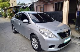 Silver Nissan Almera 2013 Sedan Manual Gasoline for sale
