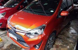 Orange Toyota Wigo 2018 Manual Gasoline for sale
