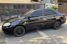 Black Toyota Corolla Altis 2007 Automatic Gasoline for sale
