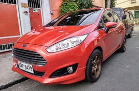Sell Orange 2015 Ford Fiesta Hatchback at 31000 km