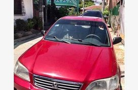 Selling Red Honda City 2000 Automatic Gasoline at 141000 km