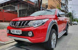 Red Mitsubishi Strada 2018 at 11000 km for sale