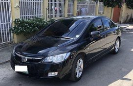 Selling Black Honda Civic 2008 at 92000 km