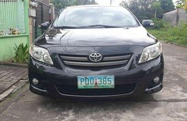 Black Toyota Corolla Altis 2010 at 160000 km for sale