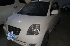 White Kia Picanto 2007 Hatchback Automatic Gasoline for sale