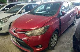 Red Toyota Vios 2017 for sale in Makati