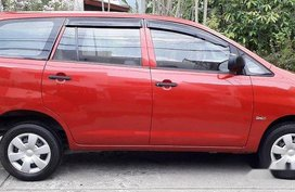 Sell Red 2010 Toyota Innova Manual Diesel at 95000 km