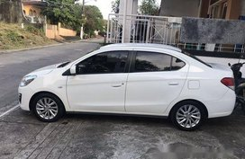 White Mitsubishi Mirage G4 2017 Automatic Gasoline for sale