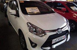 Sell White 2019 Toyota Wigo Manual Gasoline at 6423 km