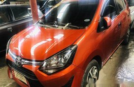 Orange Toyota Wigo 2018 for sale in Quezon City