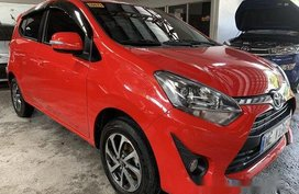 Selling Red Toyota Wigo 2019 Automatic Gasoline at 3000 km