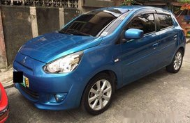 Blue Mitsubishi Mirage 2013 at 59006 km for sale