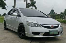 Silver Honda Civic 2009 Manual Gasoline for sale