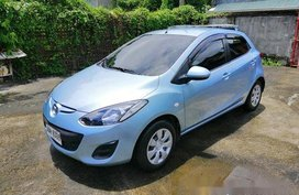 Blue Mazda 2 2013 Manual Gasoline for sale