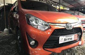 Selling Orange Toyota Wigo 2019 Manual Gasoline