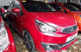 Red Mitsubishi Mirage 2018 Automatic Gasoline for sale