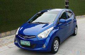 Sell Blue 2012 Hyundai Eon Sedan at 97000 km