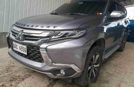 Grey Mitsubishi Montero Sport 2018 for sale in Mandaluyong