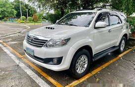 White Toyota Fortuner 2014 Automatic Diesel for sale