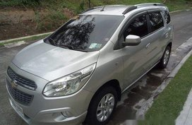 Silver Chevrolet Spin 2015 Automatic Gasoline for sale