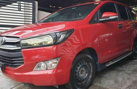 Selling Red Toyota Innova 2017 Manual Diesel at 28000 km