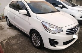 White Mitsubishi Mirage G4 2018 at 14000 km for sale