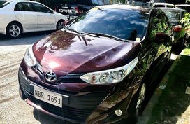 Red Toyota Vios 2018 Automatic Gasoline for sale