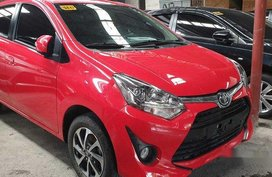 Sell Red 2018 Toyota Wigo Manual Gasoline at 2800 km