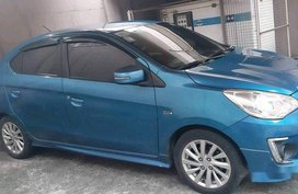 Selling Blue Mitsubishi Mirage G4 2014 at 33000 km