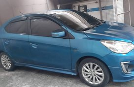 Selling Blue Mitsubishi Mirage G4 2014 Sedan at 33000 km