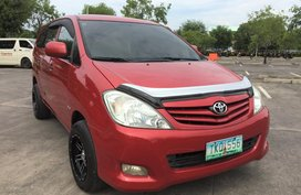 Red Toyota Innova 2012 Manual Diesel for sale