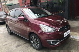 Selling Red Mitsubishi Mirage 2017 at 12000 km
