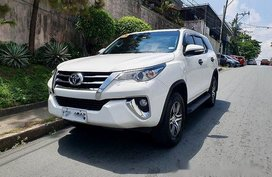 White Toyota Fortuner 2017 at 23000 km for sale