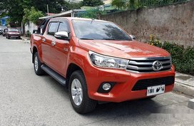Sell Orange 2017 Toyota Hilux Automatic Diesel at 28000 km