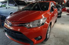 Orange Toyota Vios 2017 for sale in Quezon City