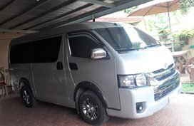 Silver Toyota Hiace 2016 at 64000 km for sale in Lucena
