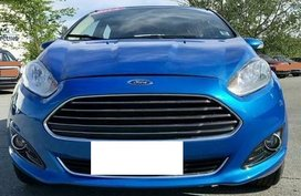 Blue 2014 Ford Fiesta at 45000 km for sale in Quezon City