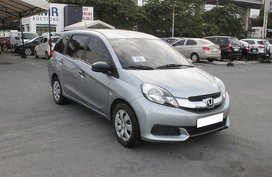 Selling Silver Honda Mobilio 2016 Manual Gasoline at 43452 km