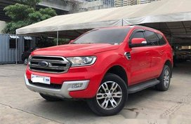 Red Ford Everest 2016 at 43000 km for sale