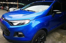 Selling Blue Ford Ecosport 2017 at 37800 km