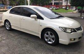 White Honda Civic 2007 at 90000 km for sale