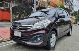 Red Suzuki Ertiga 2018 at 6000 km for sale in Quezon City