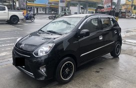 Black 2014 Toyota Wigo at 44000 km for sale