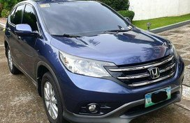 Sell Blue 2013 Honda Cr-V Automatic Gasoline at 77000 km
