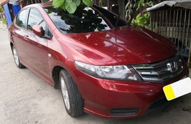 Selling Red Honda City 2012 Manual at 18000 km