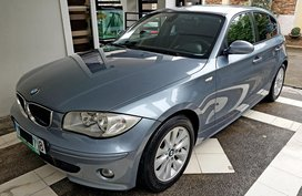 Blue 2007 Bmw 118I at 92000 km for sale in Pasig