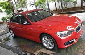 Red Bmw 320D 2013 at 19500 km for sale